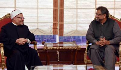 PM receives grand mufti of Egypt in Islamabad