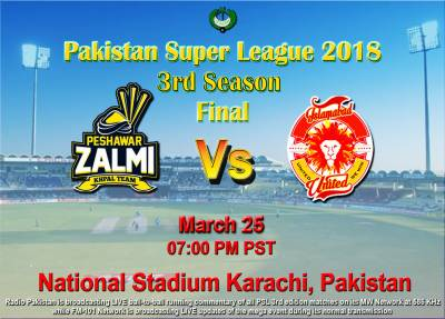 PSL Final: Peshawar Zalmi to face Islamabad United on Sunday