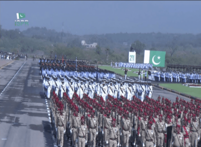 Turkey, UAE and Jordon Military contingents participated in Pakistan Day Parade