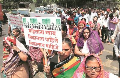 Indian women community rally in favour of