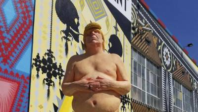 Naked Donald Trump statue up on auction in America