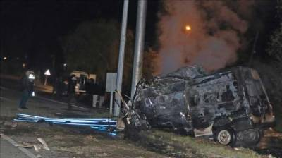 15 migrants killed in minibus crash in Turkey