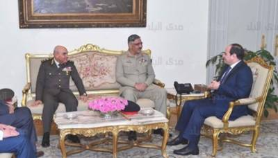CJCSC General Zubair Mehmood holds important meeting with Egyptian President Fattah el - Sisi