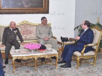 CJCSC General Zubair Mehmood meets Egyptian President in Cairo