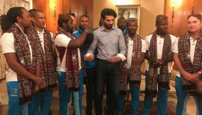 West Indies squad arrives in Karachi