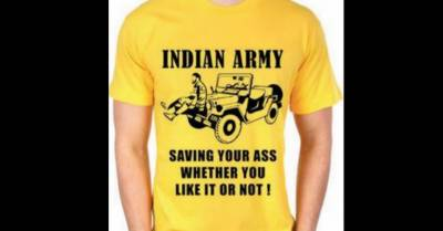 India slammed by International media over new Indian Army T- Shirt