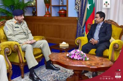 Pakistan Army Chief is the first foreign dignitary to visit Maldives after emergency on Sunday