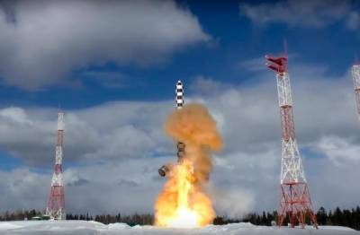 Russia Test-launches Sarmat Missile