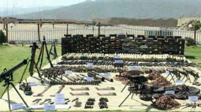 Security Forces recovered huge quantity of arms during IBO in Mastung, NWA