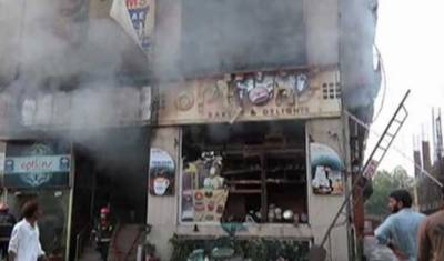 Five killed in a fire at a Bakery in Lahore