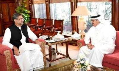 Saudi, Chinese Ambassadors call on PM Shahid Khaqan