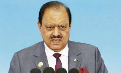 Pakistan to continue all out support to kashmiris: President
