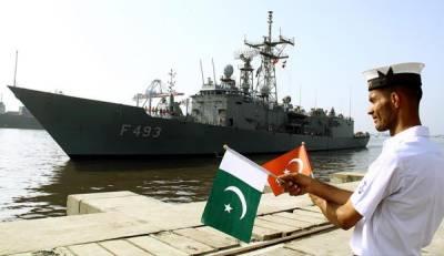 Turkish Navy Ship TCG Gelibolu arrives Karachi on four-day goodwill visit