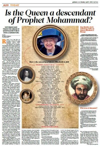 Egypt's former grand Mufti confirms Queen Elizabeth is descendant of Prophet Muhammad (PBUH)