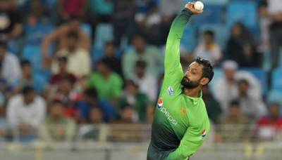 Mohammad Hafeez goes through bowling action test