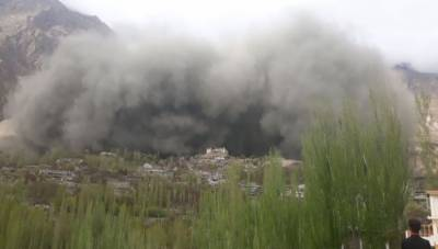 Hunza landslide: Efforts underway to recover bodies of three persons