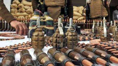 Security Forces recover huge cache of arms and ammunition