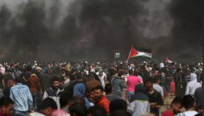 One Palestinian martyred, 200 wounded by Israeli Military