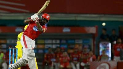 Rejected Chris Gayle rocks in his first IPL knock of the year
