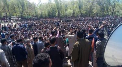 Thousands attend funeral prayers of martyred youth in Srinagar