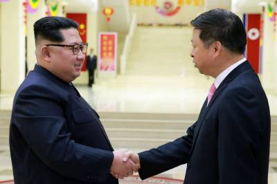 N. Korea's Kim greets Chinese official, calls for stronger ties