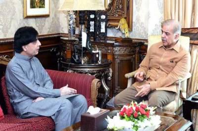 Chaudhry Nisar meets Shahbaz Sharif yet again