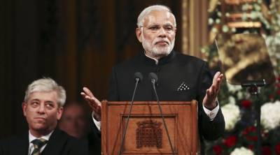 PM Modi boasts off his fake surgical strike in his London tour to save his image