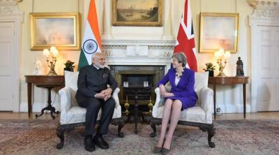PM Modi faces embarrassment during his meeting with British PM Theresa May in London