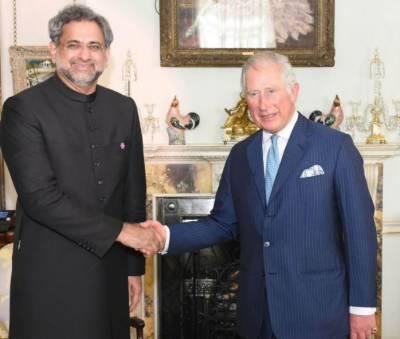 PM Shahid Khaqan meets Prince Charles Philip in London