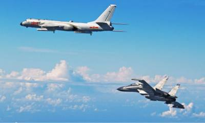 China's Air Force conduct a