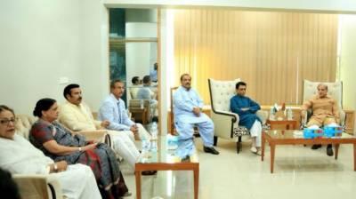 CM Punjab visits MQM Headquarters, throws his full weight behind MQM
