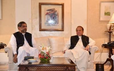 PM Shahid Khaqan leaves an advice for Nawaz Sharif during a meeting in London