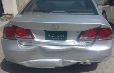 CJP Justice Saqib Nisar cavalcade hit with an accident