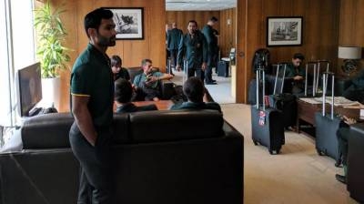 Pakistani cricket team arrives in London