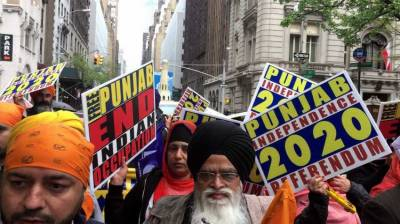 Sikhs gathered in New York reaffirm demand for sovereign Khalistan