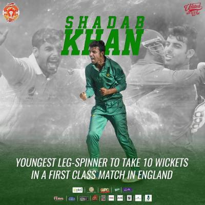 Shadab Khan makes history on English soil