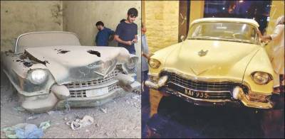 Miss Fatima Jinnah historical car restored in Karachi