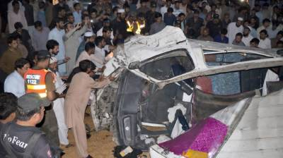 10 killed, 7 injured in road accident in Abbottabad