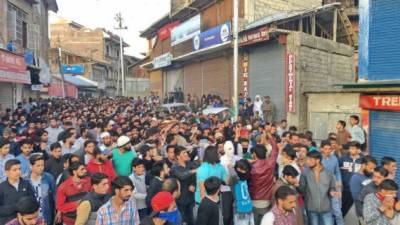 Forceful demonstrations in occupied Kashmir against Indian Army