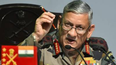 Indian Army Chief compares Occupied Kashmir situation with Syria