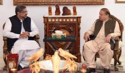 PM Shahid Khaqan meets Nawaz Sharif after NSC meeting