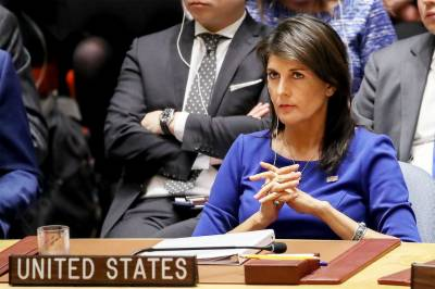 US Ambassador to UN Nikki Haley fell too low in emergency UNSC session