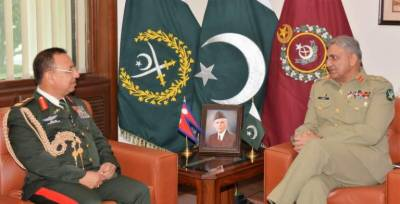 Napal's Army Chief calls on COAS General Bajwa in GHQ