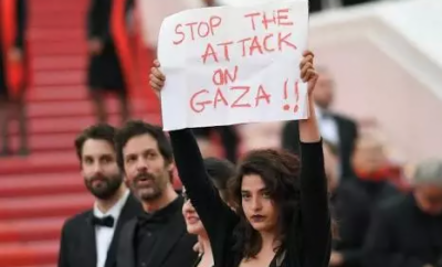 Arab actress raise voice for Gaza victims in Cannes Festival