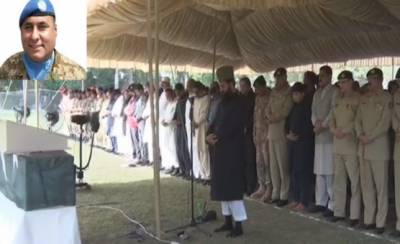 Funeral Prayers of martyred Colonel Sohail Abid, COAS participates in Lahore