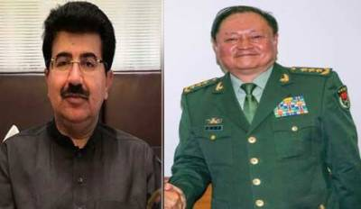 Sanjrani confers Nishan-e-Imtiaz Military award to Chinese General