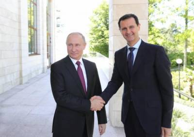 Syrian President Bashar Al Asad meets Putin in Moscow