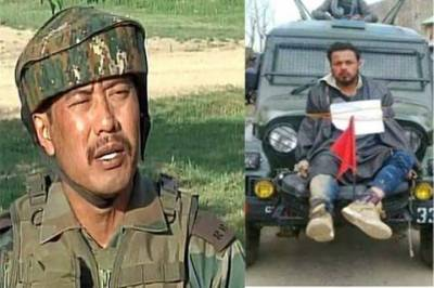 Indian Army Major Gogoi, infamous over human shield case arrested in Kashmir hotel with a girl
