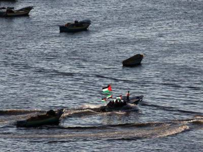 Israeli military carries out airstrikes on 2 boats off the besieged Gaza