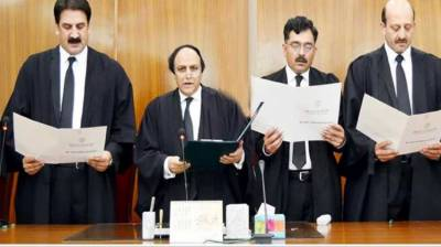 Newly-inducted judges of AJK HC take oath